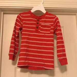 Toddler boys 4T long sleeve shirt orange & white